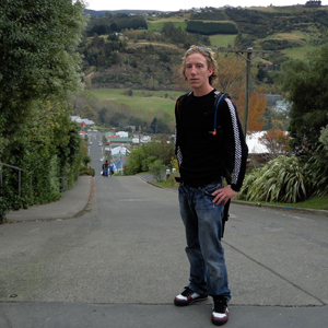 Baldwin St, Dunedin New Zealand. The Steepest St in the world. The picture really doesnt do it justice. It is steep.. really.