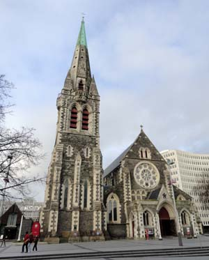The Church in the centre square in Christchurch